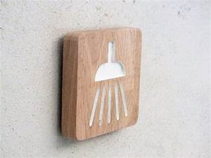 Bois Pour Salle De Bain : plaque de porte en bois grav pour la salle de bain ~ Melissatoandfro.com Idées de Décoration