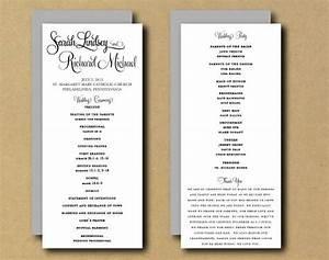 wedding ceremony program templates free one page wedding program template template business