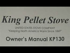 King Pellet Stove Owners Manual Kp130