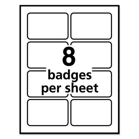 Avery Id Badge Template by Ave5895 Avery Self Adhesive Laser Inkjet Name