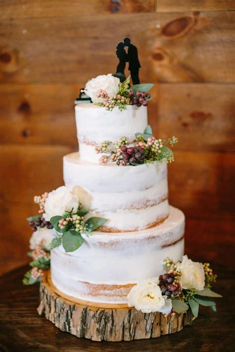 rustic berry  eucalyptus accented cake lisa