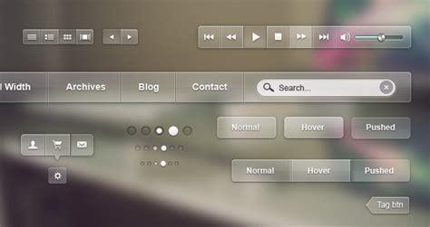 glossy psd web ui kit psd web elements pixeden