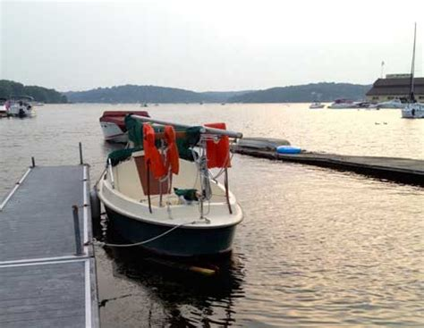 Boat Shrink Wrap Green Bay by Bay Hen 1998 Lake Hopatcong New Jersey Sailboat For