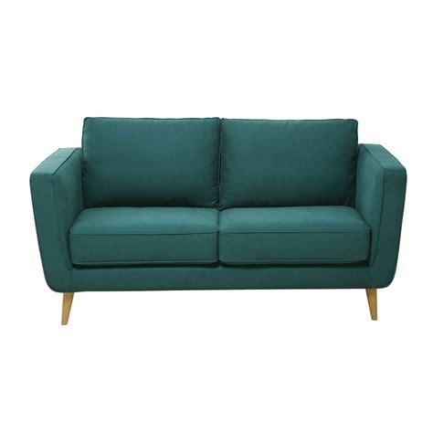 canapé 2 places en tissu canapé 2 3 places en tissu kendo bleu canard nils