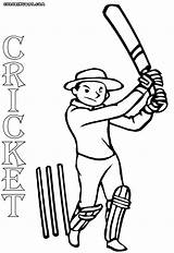 Cricket Game Coloring Pages Drawing Print Colorings Getdrawings sketch template