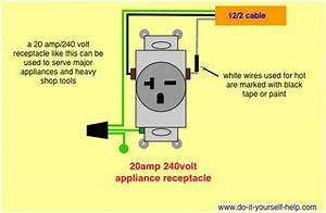 Wiring Diagram For A 20 Amp 240 Volt Receptacle In 2019