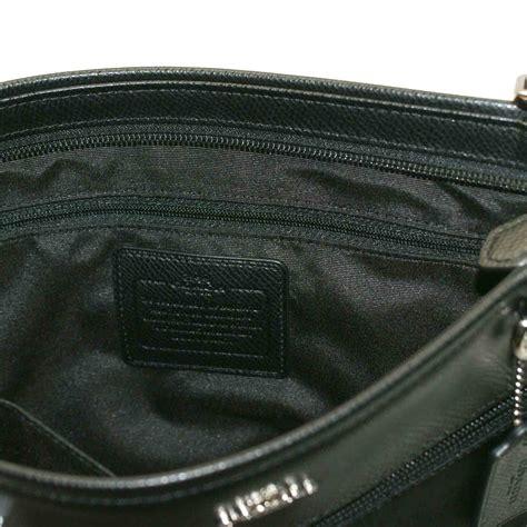 coach signature nylon spencer crossbody bag black  coach
