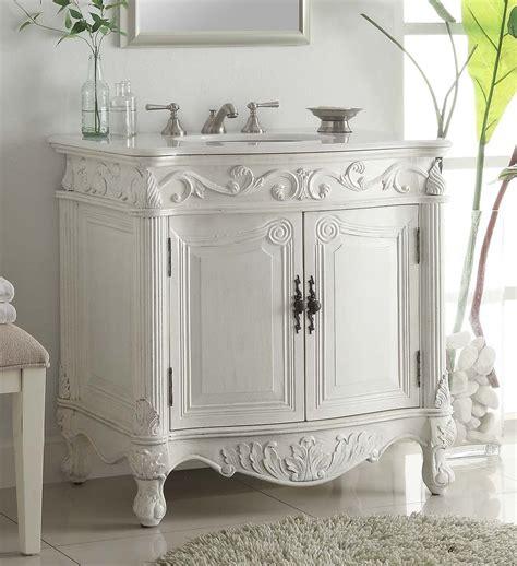 8 spread faucet adelina 32 inch antique bathroom vanity white finish