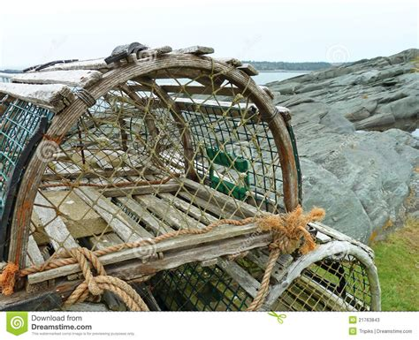decorative lobster traps large lobster traps stock photos image 21763843