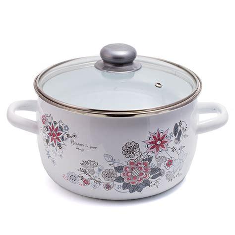 pot enamel cookware enamelware piece spring
