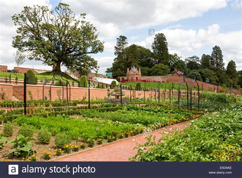 view of the walled garden at dumfries house cumnock