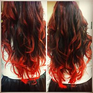 from dark brown hair with red highlights onto super bright ...