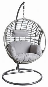 Fauteuil En Oeuf : fauteuil oeuf gris en polyr sine sur pied ~ Farleysfitness.com Idées de Décoration