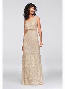 v neck sequin blouson bridesmaid dress david39s bridal With blouson wedding dress