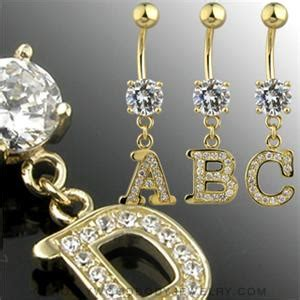 solid gold yellow cz rhinestone paved initial letter