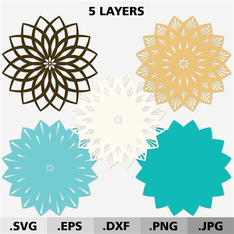 Feel free to play around and possibly leave some of the. 3d Mandala SVG files for cricut. Layered Mandala svg. 3d ...
