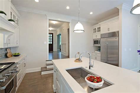 sunken sink kitchen sunken kitchen with island transitional kitchen 2613