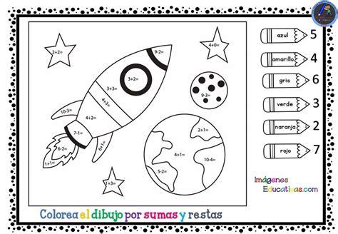 Colorea por SUMAS y RESTAS (1 (con imágenes) Suma y