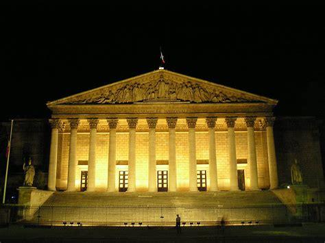 si e de l assembl nationale l 39 assemblée nationale de nuit sur freemages