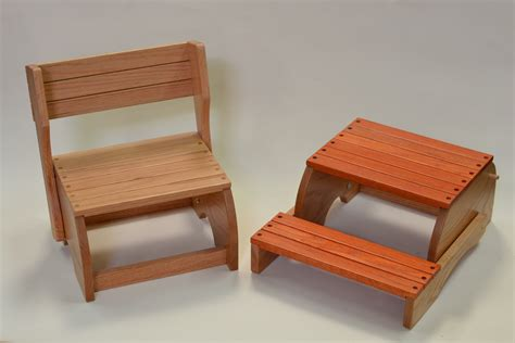 diy wooden chair step stool plans free