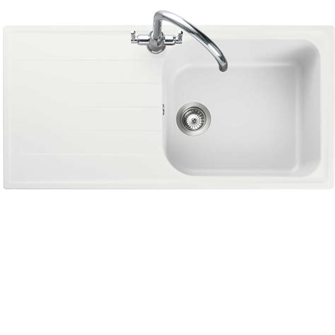 fragranite kitchen sinks rangemaster amethyst ame1051 white igneous sink 1051