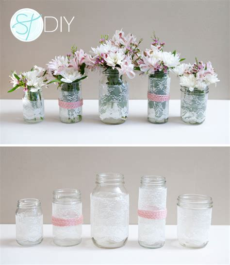 diy with jars how to make diy lace covered mason jars