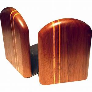 Vintage, Pair, Of, Inlaid, Wood, Bookends, From, Stephenakramer, On, Ruby, Lane