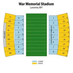 Stadium Seating For Home Theater by War Memorial Stadium Wy Seating Chart War Memorial