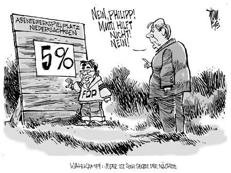 aktuelle karikaturen fdp im wahlkampf