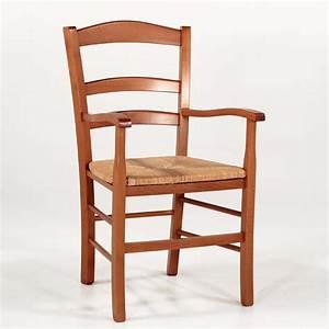 Fauteuil En Bois : fauteuil en bois rustique et paille broc liande 4 pieds tables chaises et tabourets ~ Teatrodelosmanantiales.com Idées de Décoration