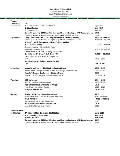 2015 rn resume summary and resume