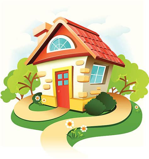 clipart summer cottage graphics illustrations