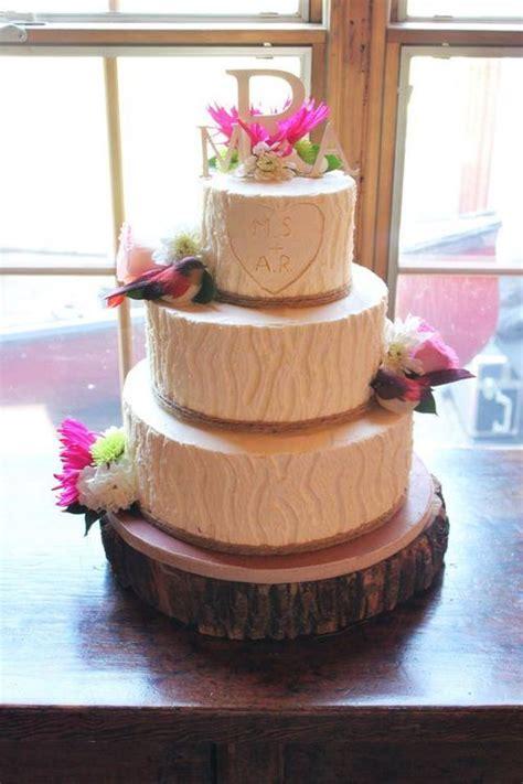 tree bark wedding cake     bark textured