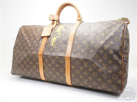 sale auth pre owned louis vuitton monogram keepall