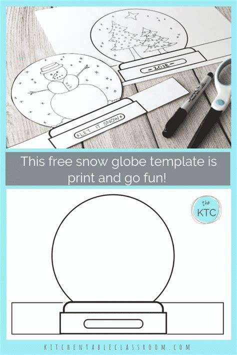 snowglobe print draw stand  template