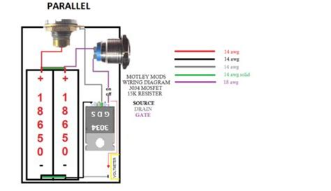motley mods box mod wiring diagramsled buttonswitch parallel seriesled angel eye button