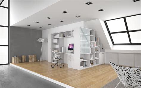 agencement de bureau bibliothèques bureaux et aménagements sous pentes