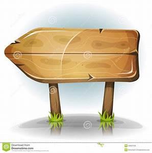 Comic Wooden Sign Arrow Stock Vector - Image: 42623704