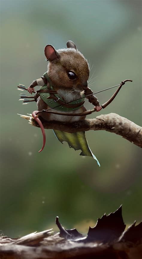 medieval rodent warriors original character art geektyrant