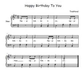 Happy Birthday Song On Piano Sheet Music