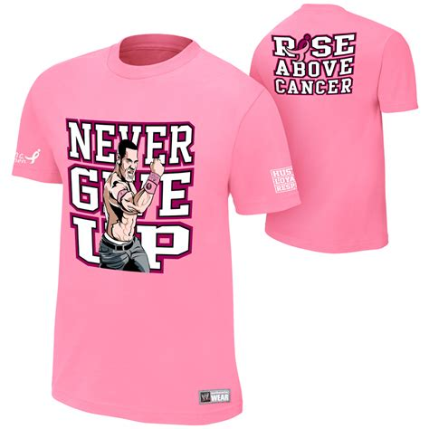 tna authentic tshirt creatures cena never give up rise above cancer official t