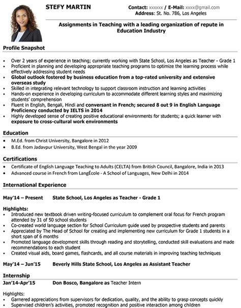 resume examples  teaching salescvinfo