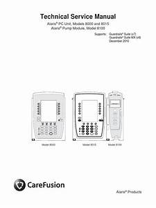 Alaris Pc 8000 And 8015 And Pump 8100 Service Manual  1