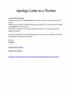Best Photos of Student Apology Letter Template - Sample ...