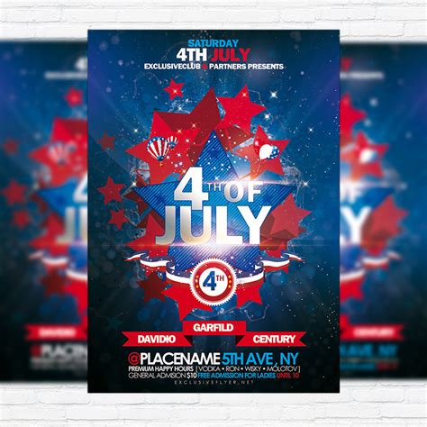 july premium flyer template facebook cover