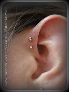 The gallery for --> Single Forward Helix Piercing
