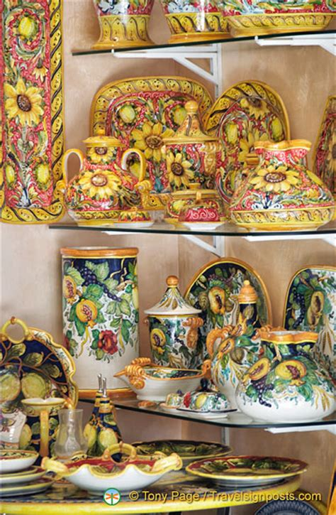 hometown abroad ceramic shop positano italy pottery from maria grazia ceramiche
