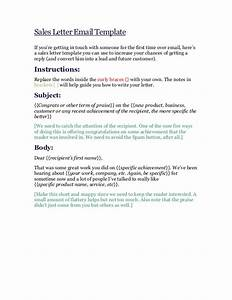 sales letter email template With email sales letter template