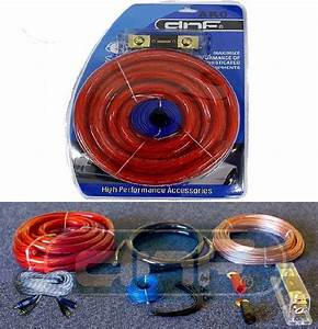 0 Gauge Amp Kit Complete Amplifier Wiring Install Speaker
