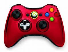 Microsoft Chrome Series Xbox 360 controllers  Xbox 360 Controller Red Chrome